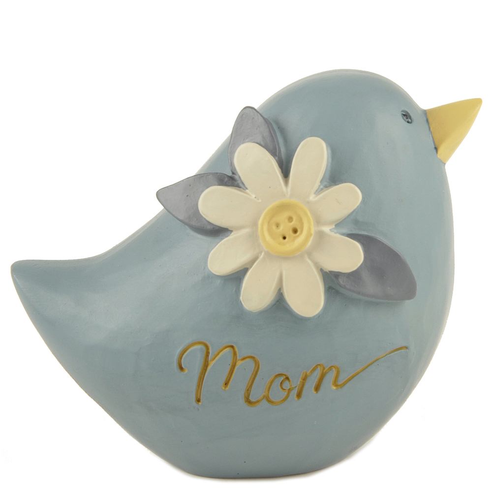 Blossom Bucket Mom Bird Figurine