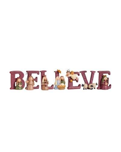 BELIEVE Nativity Set (7-Piece)
