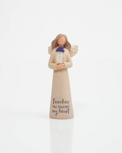 Teacher You Touched My Heart Angel Figurine