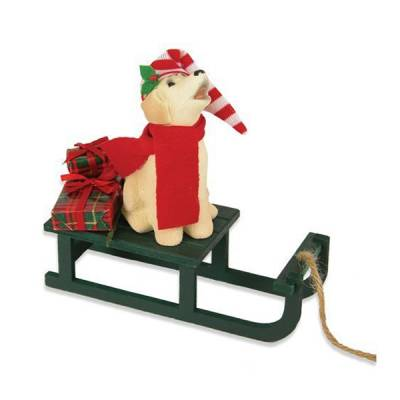 Dog with Sled Figurine