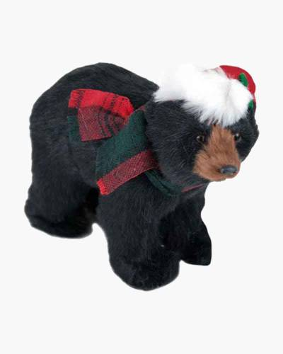 Walking Black Bear Figurine