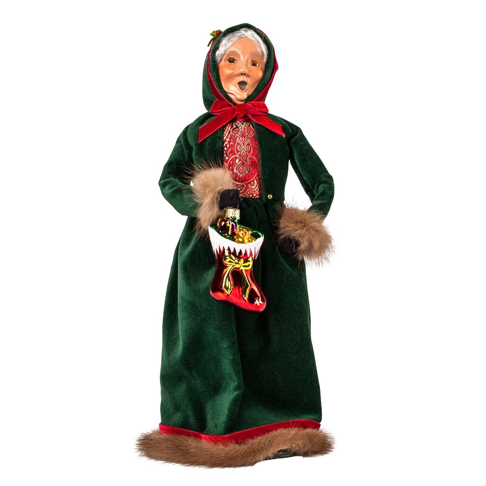 Byers' Choice Exclusive Mrs. Claus Carolers Figurine