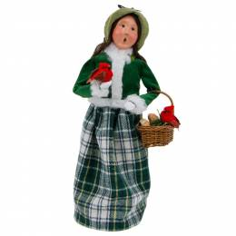 Byers' Choice Family with Cardinals Woman Carolers Figurine