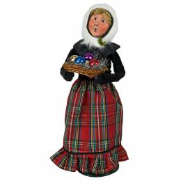 Byers' Choice Ornament Vendor Woman Carolers Figurine