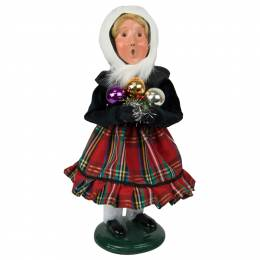 Byers' Choice Girl with Ornaments Carolers Figurine