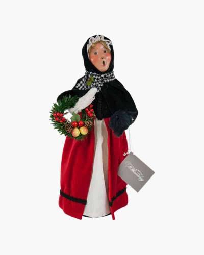 Colonial Woman Carolers Figurine