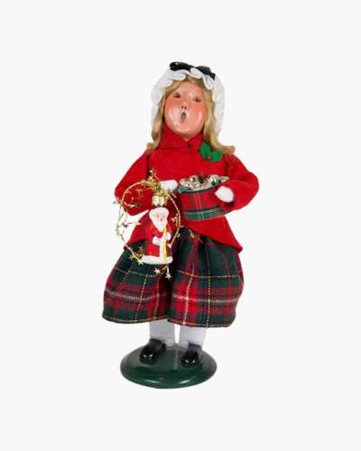 Glass Ornament Girl Carolers Figurine