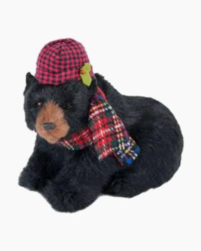 Seated Black Bear Figurine