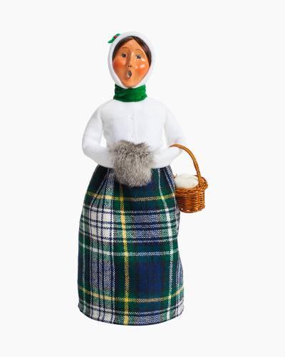 Exclusive Plaid Woman Carolers Figurine