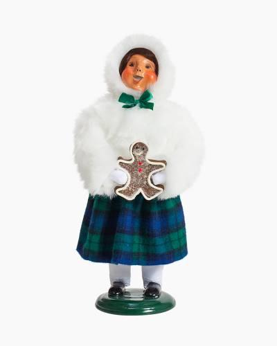 Exclusive Plaid Girl Carolers Figurine