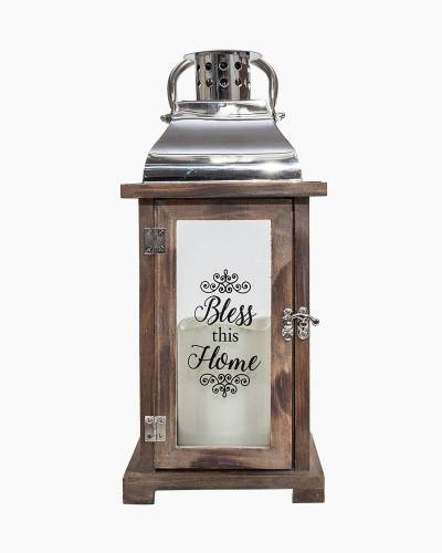 Bless This Home Wooden LED Lantern