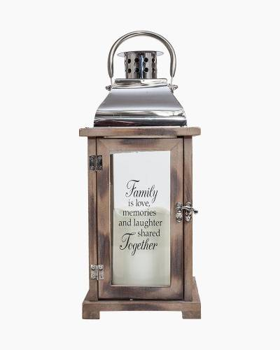 Family Shared Together Wooden LED Lantern