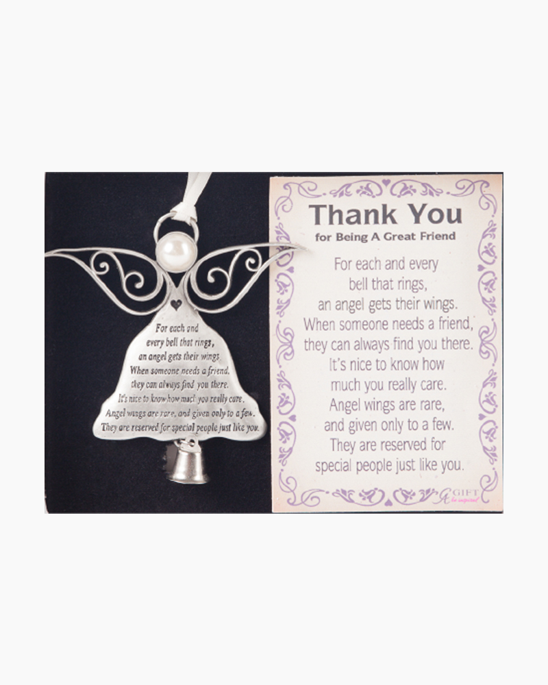 Cathedral Art Metal Exclusive Angel Thank You Friend Ornament