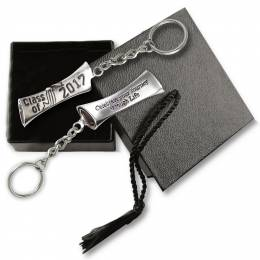 Cathedral Art Metal 2017 Grad Diploma Keychain
