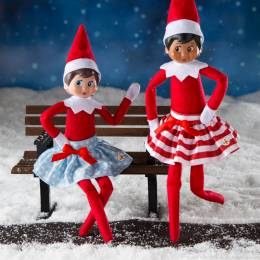 Elf on the Shelf Claus Couture Skirts with Satin Bows
