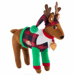 Elf on the Shelf Plaid Scout Elf's Reindeer Pajamas