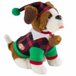 Elf on the Shelf Plaid Scout Elf's Saint Bernard Pajamas