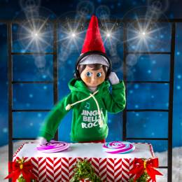 Elf on the Shelf Claus Couture Hoodie with Headphones