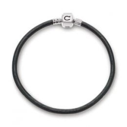 Chamilia Graphite Metallic Leather Bracelet