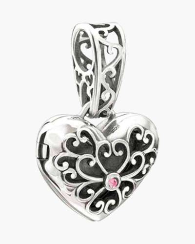 In My Heart Locket - Pink Swarovski Charm