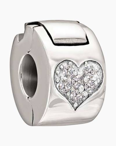 Crystal Jeweled Heart Lock