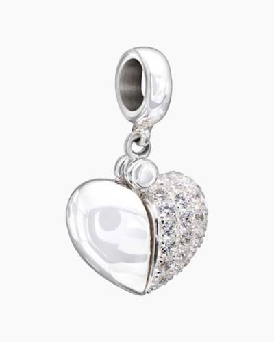 Secret Message Heart Charm