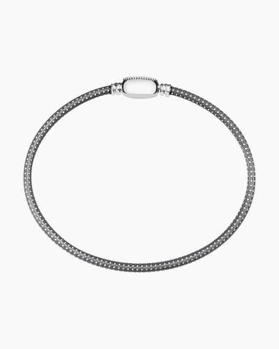 Oxidized Silver Oval Touch Bracelet