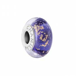 Chamilia Gilded Age Purple Heather Murano Glass Bead