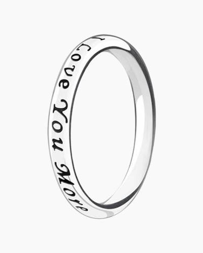 Love You, Love You More Stackable Ring