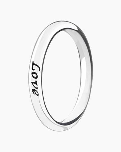 Live, Laugh, Love Stackable Ring
