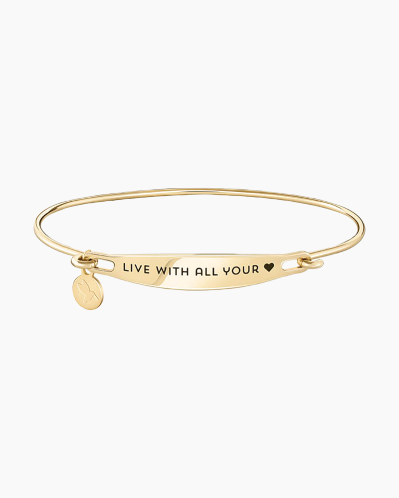 Chamilia Live With All Your Heart Spoken ID Bangle in Gold