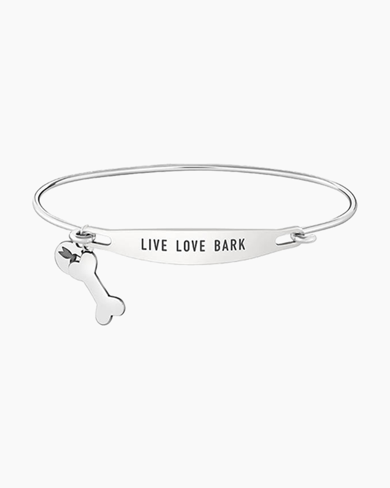 Chamilia Live Love Bark Spoken ID Bangle in Silver