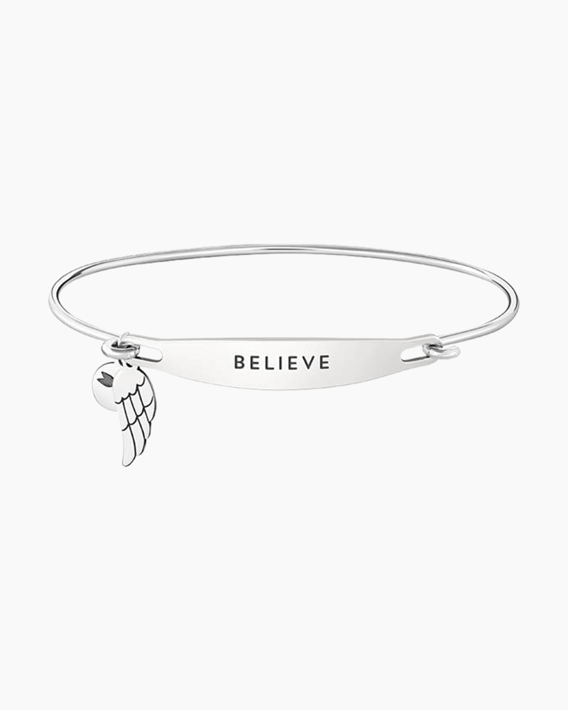 Chamilia Believe Spoken ID Bangle in Silver