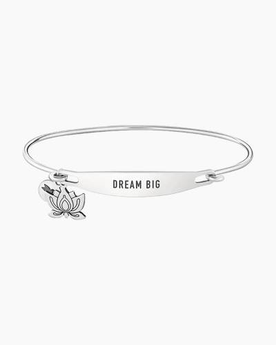 Dream Big Spoken ID Bangle in Silver