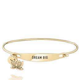 Chamilia Dream Big Spoken ID Bangle in Gold