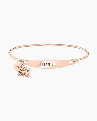 Dream Big Spoken ID Bangle in Rose Gold