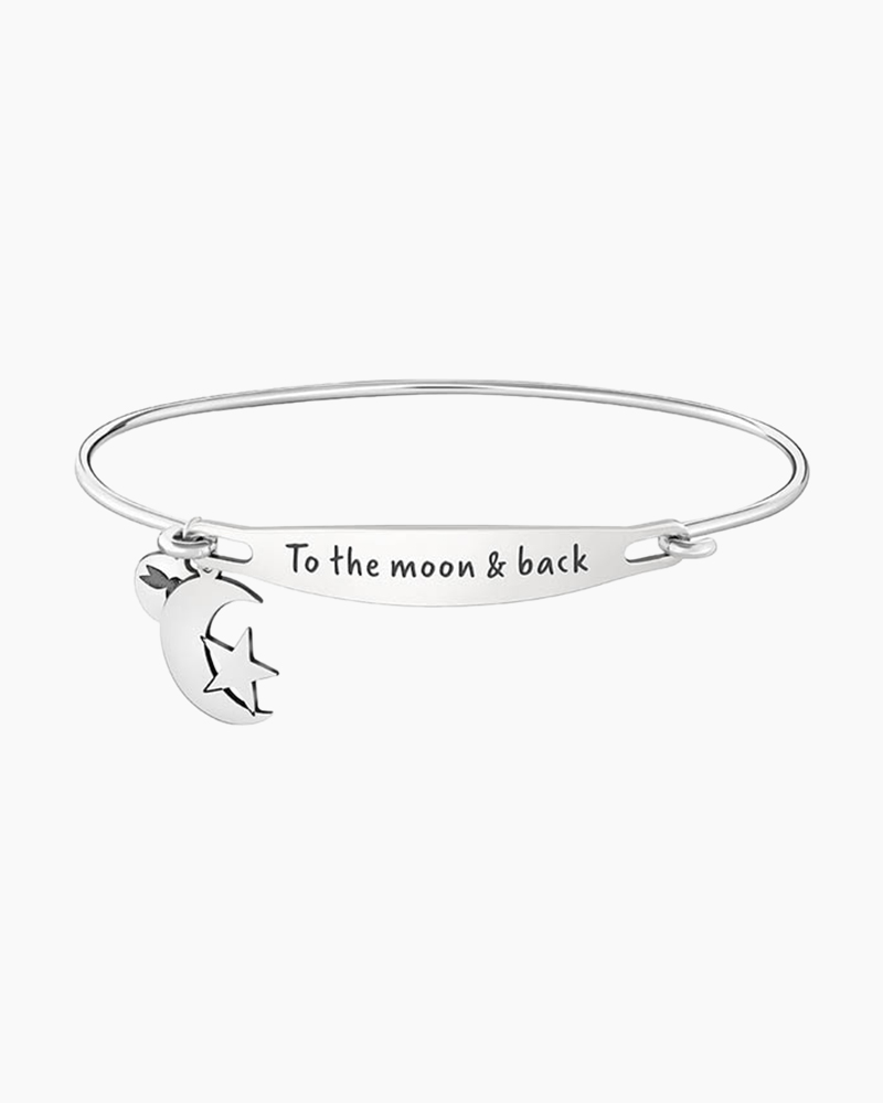 Chamilia To the Moon and Back Spoken ID Bangle in Silver