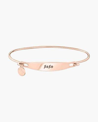 XOXO Spoken ID Bangle in Rose Gold