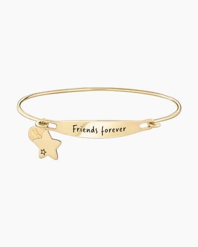 Friends Forever Spoken ID Bangle in Gold