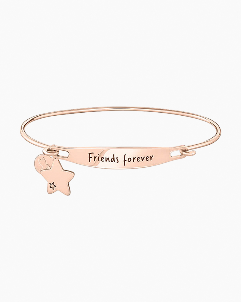 Chamilia Friends Forever Spoken ID Bangle in Rose Gold