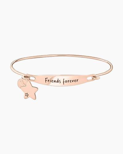 Friends Forever Spoken ID Bangle in Rose Gold