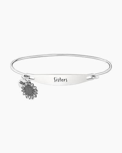 Sisters Spoken ID Bangle in Silver