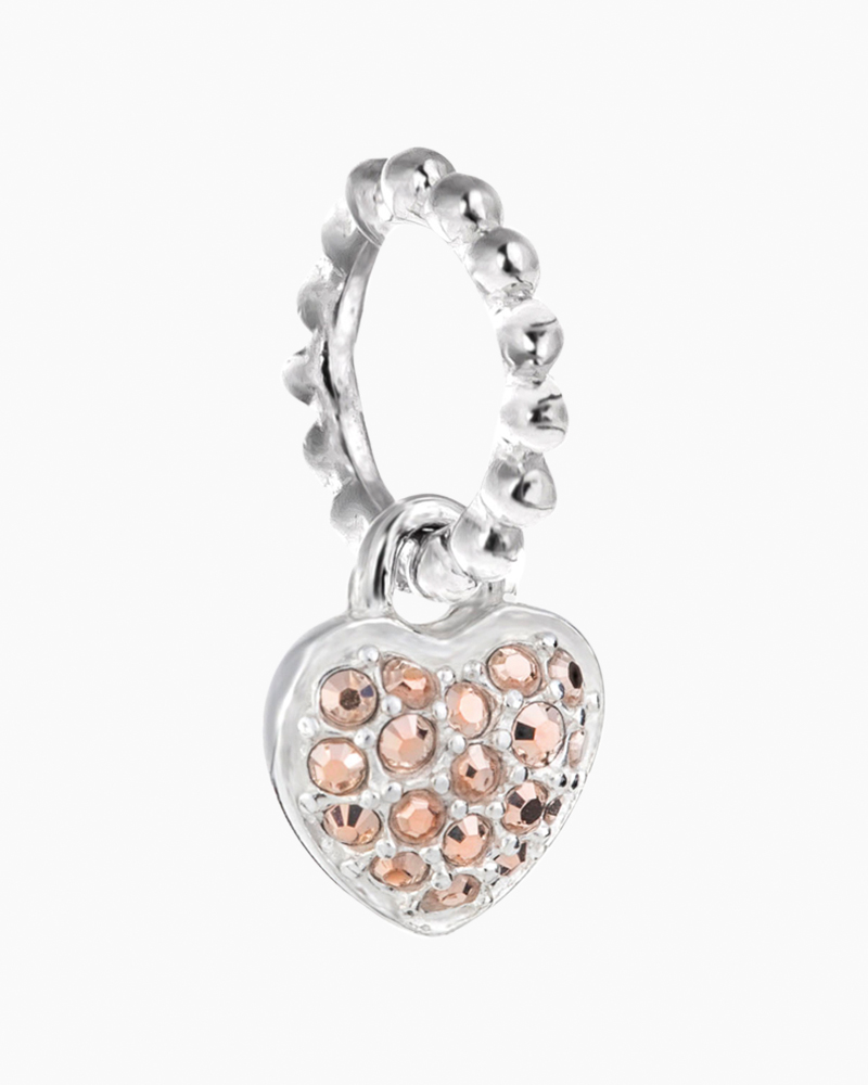 Chamilia Exclusive Petites Rose Gold Crystal Pave Heart Charm