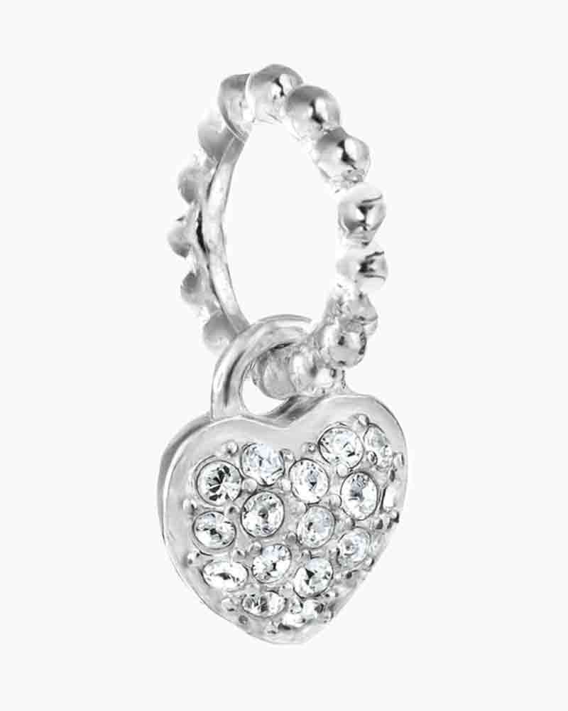 Chamilia Exclusive Petites Crystal Crystal Pave Heart Charm