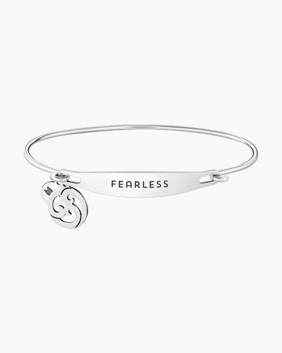 Fearless Spoken ID Bangle in Silver
