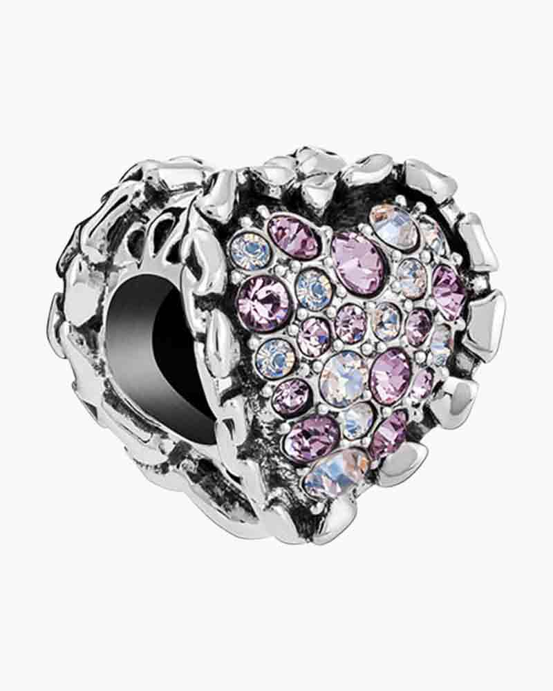Chamilia Limited Edition Ruffled Heart Charm