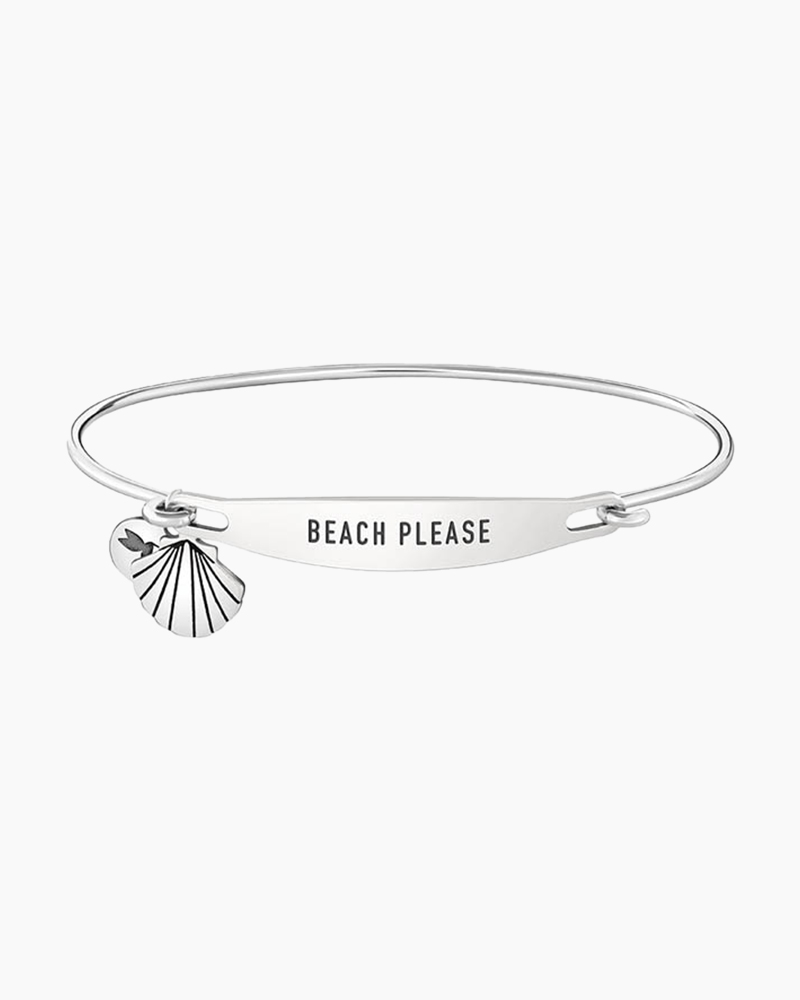 Chamilia Beach Please Spoken ID Bangle in Silver