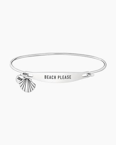 Beach Please Spoken ID Bangle in Silver