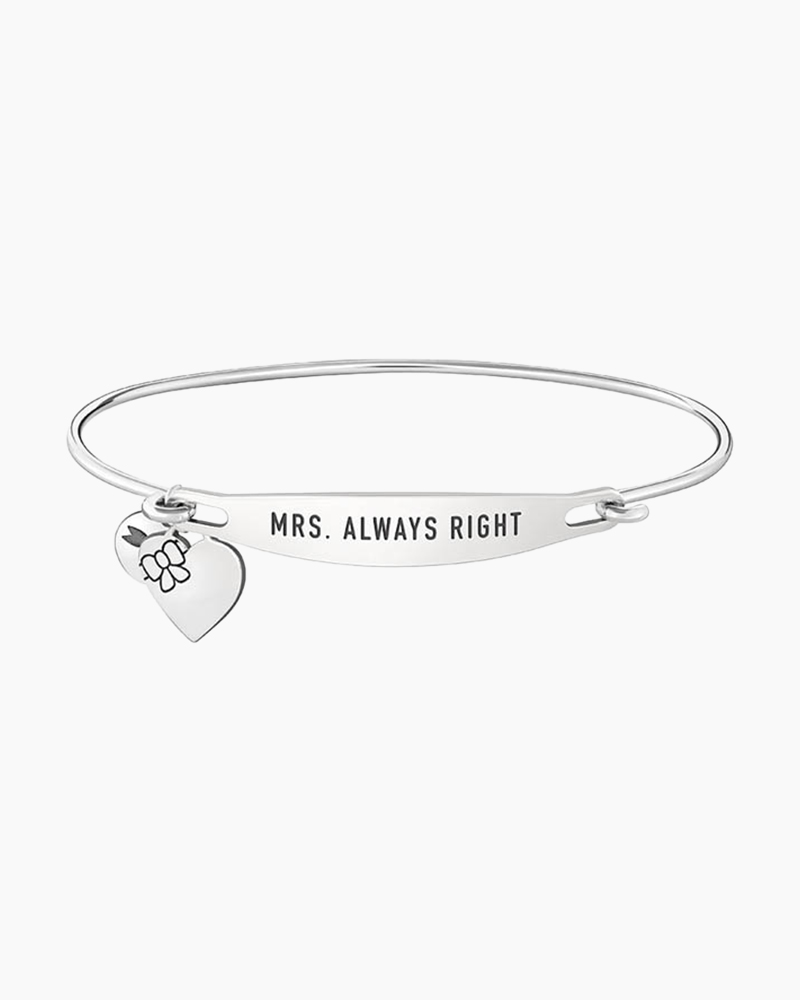 Chamilia Mrs. Always Right Spoken ID Bangle in Silver