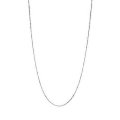 Box Chain Necklace in Bright Silver